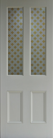 Amber Gothic Etched Glass Door