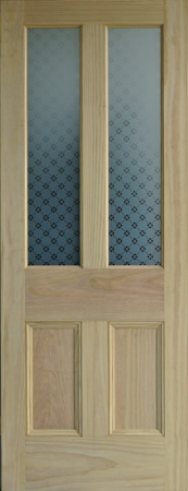 Fleur Etched Glass Door