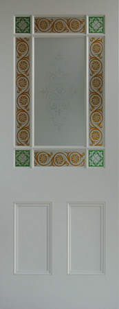 Painted 9 pane internal door
