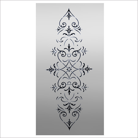Regent C Etched Glass Panel for Windows or Doors