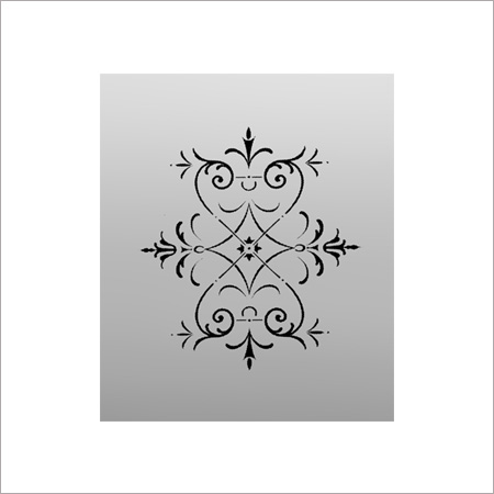 Regent D Etched Glass panel for Windows or Doors